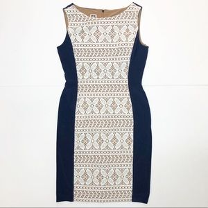 Ann Klein Sleeveless Lace Overlay Midi Dress 8P